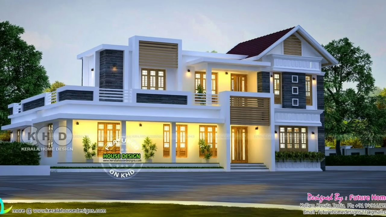 New House Design 2019# Kerala Traditional And Contemporary Latest Home 2019
