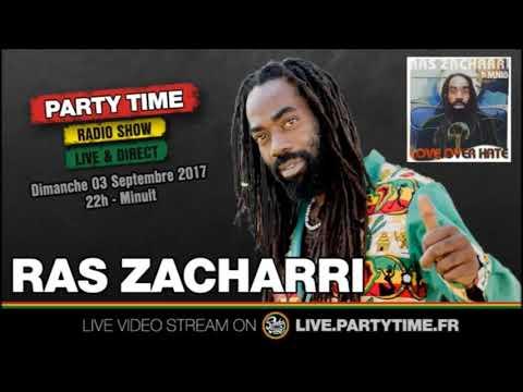 Ras Zacharri at Party Time reggae radio show - 03 SEPT 2017