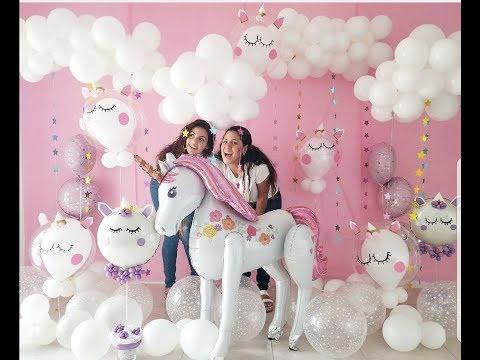 Decoración de Unicornio con globos