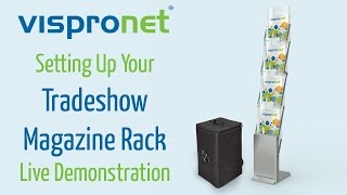 Tradeshow Magazine Display Setup - Tradeshow Magazine Rack