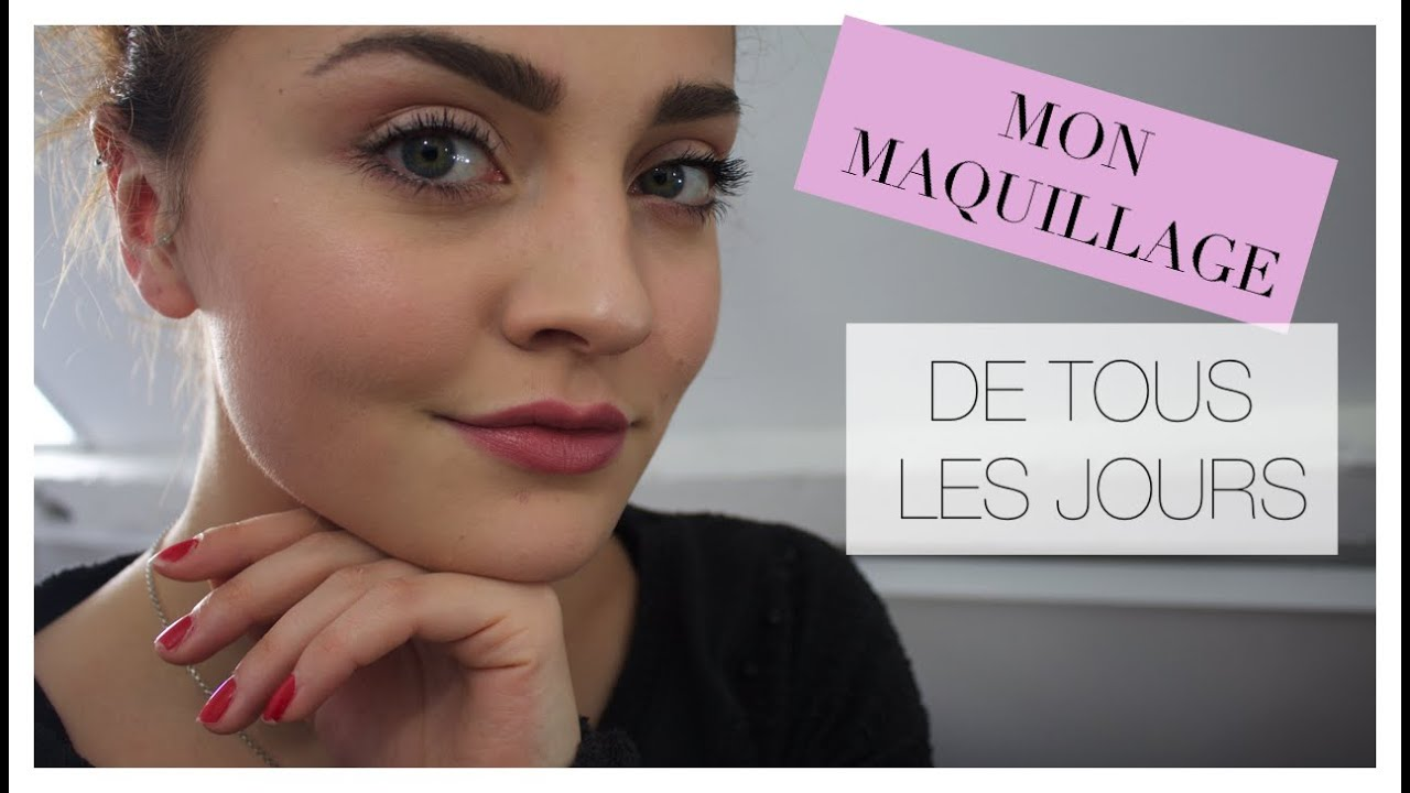 makeup everyday routine i mon maquillage de tous les jours youtube. Black Bedroom Furniture Sets. Home Design Ideas