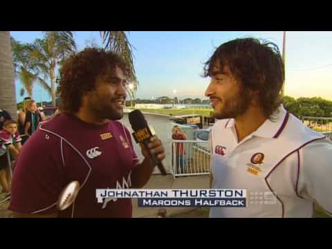 Sam Thaiday Interviews QLD Origin Team