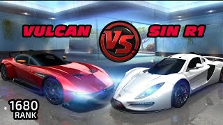 Asphalt8: MP | SIN R1 vs VULCAN  | 1680 rank