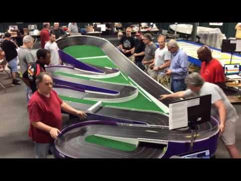 Purple Mile slot car track at LenJet