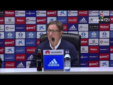 Rueda de prensa de Juan Antonio Anquela tras el Real Oviedo vs Real Valladolid (1-2)