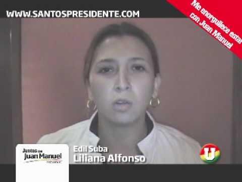 Liliana Alfonso apoya a Santos