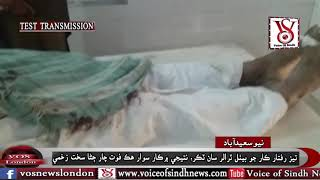 Fatal Accident of Car with Troller near Newsaeedabad Sindh