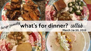 What's for Dinner COLLAB with Cutelittlecupcakes Mom   March 24-20, 2019   Large Family Meals