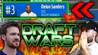 WE FOUND DEION SANDERS IN THE DRAFT (Ft. Not The Expert) | Madden 18 Draft Wars