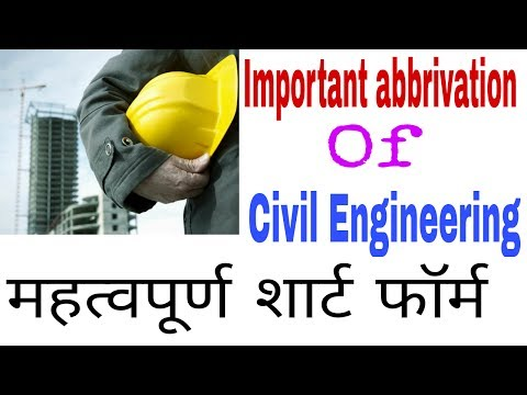 Civil Engineering Construction Work Used Short form words