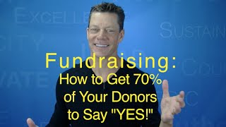 Fundraising Asks: How to Get 70% of Donors to say 'Yes!' (Tom Iselin)