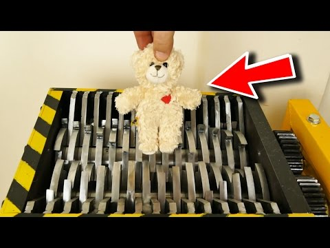 Thumbnail: LOOK CLOSELY WHAT WILL HAPPEN TO THE TEDDY BEAR - THE SHREDDER SHOW