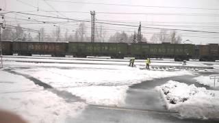 Freight train Ryevda Ural грузовикый поезд на Урале (Ревда)