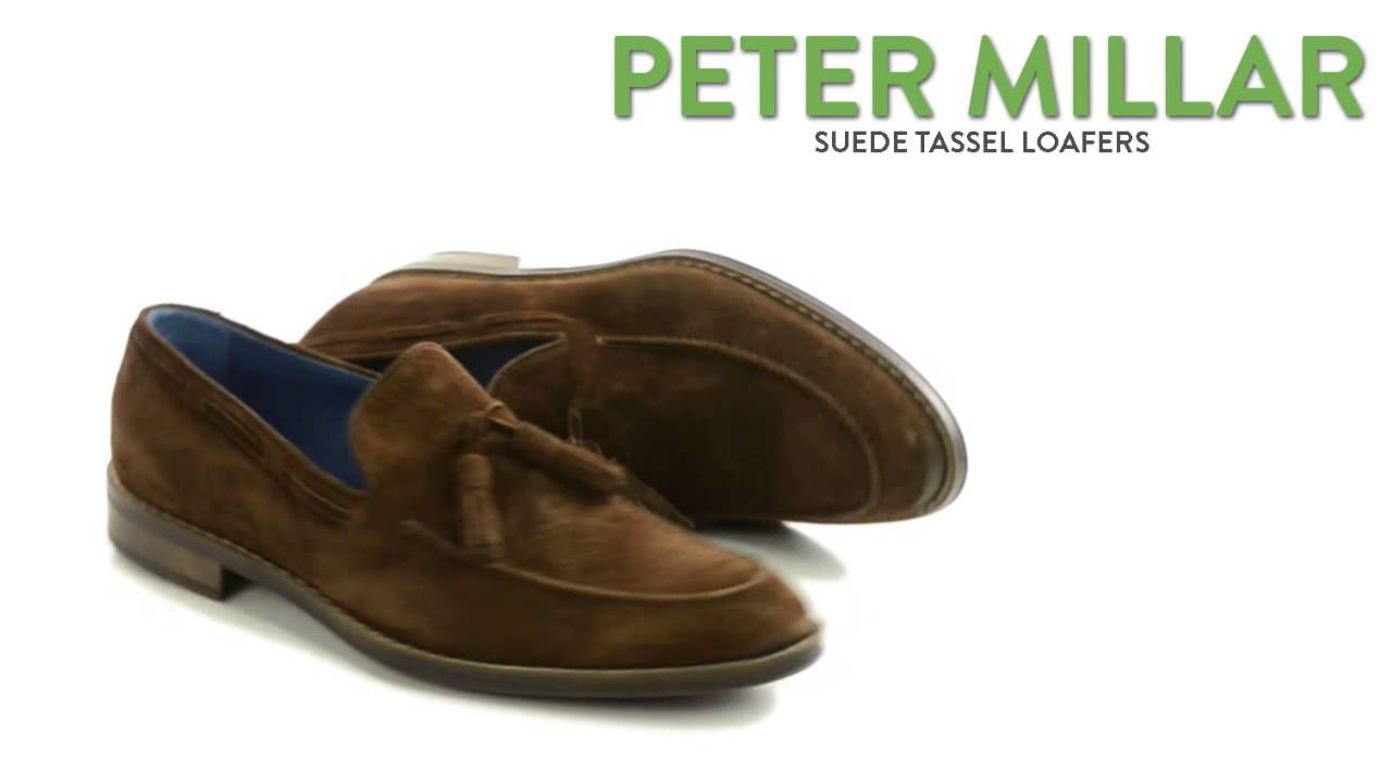 1c48ce5386a Peter Millar Suede Tassel Loafers (For Men) - YouTube