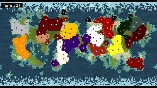 Civilization V - Timelapse (21 AI) - INTENSE! *commentary & analysis*