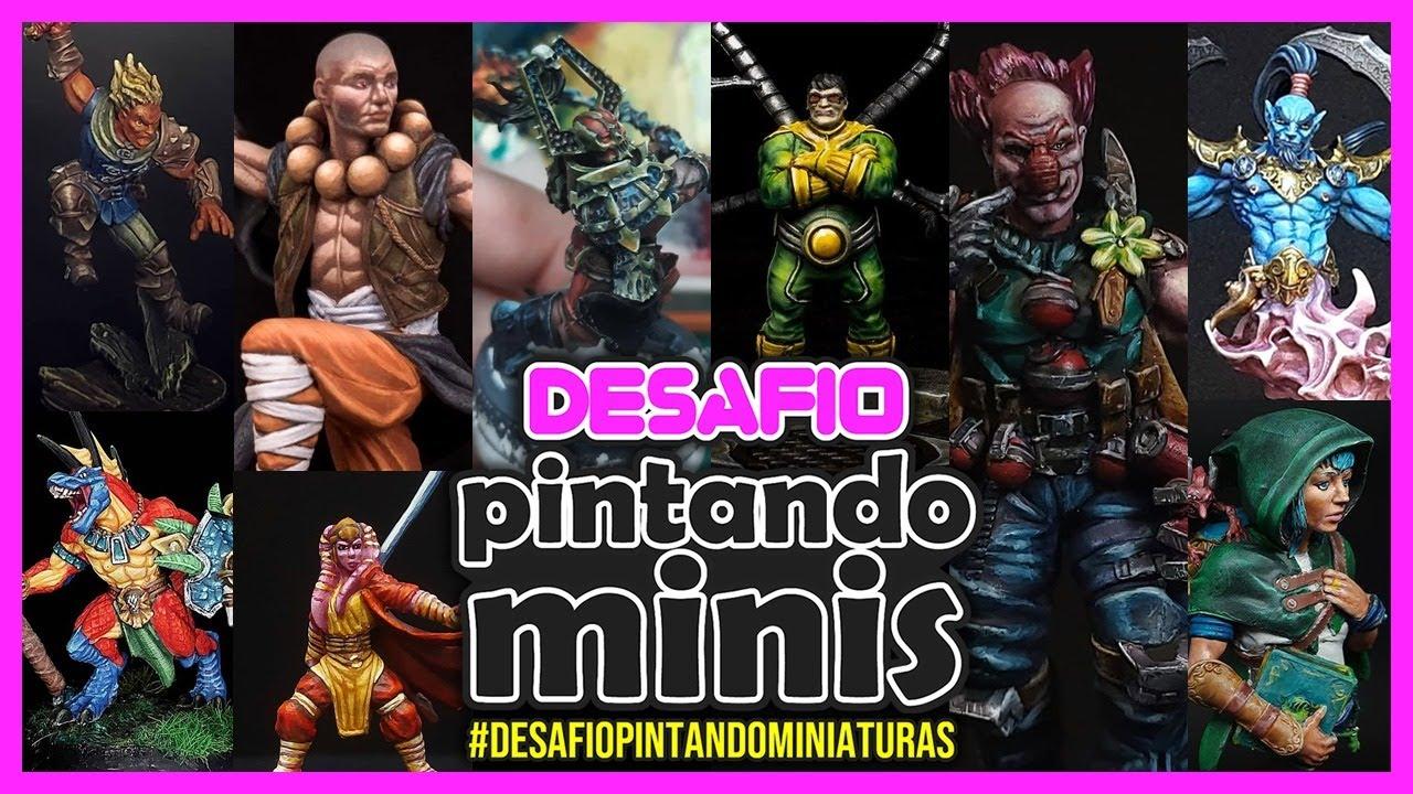🔴 Desafio Pintando Miniaturas: Trabalhos dos Inscritos - JULHO