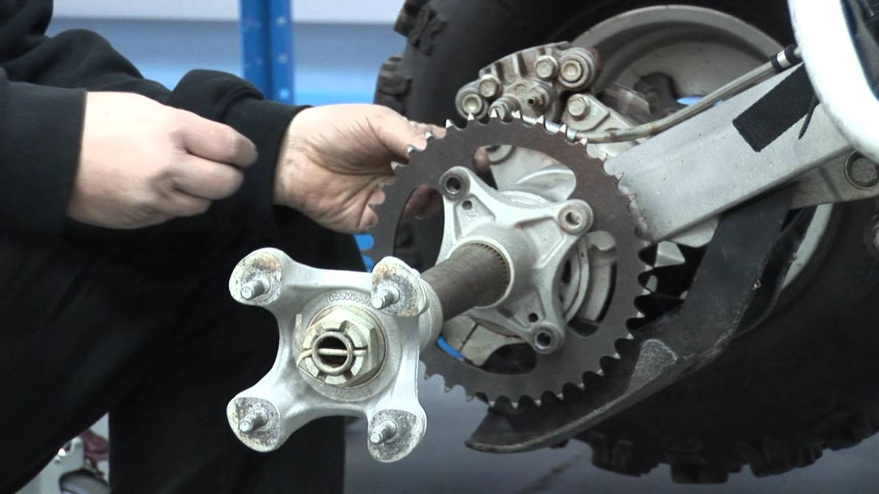 How To Tighten Chain On A  Yamaha Yfz