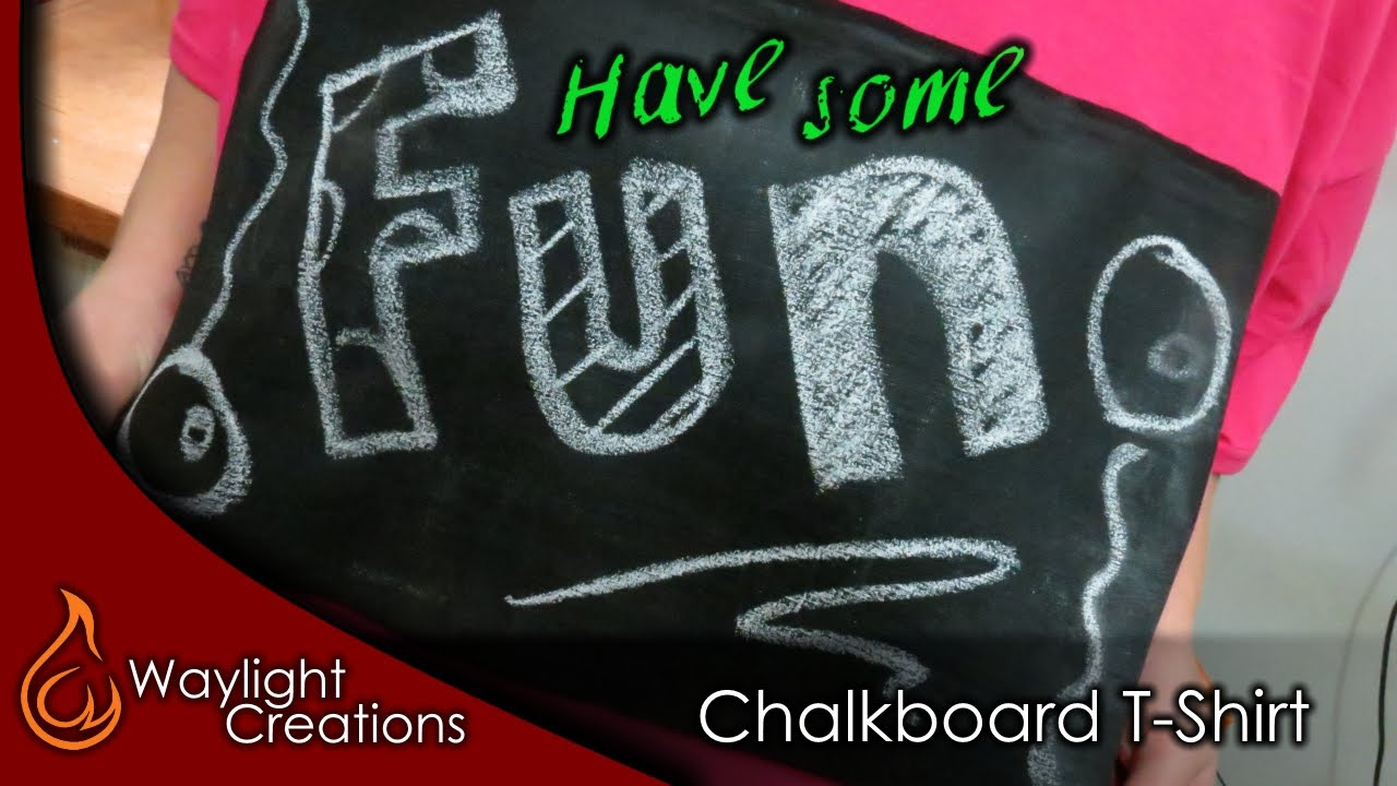 46534ecf8 Make a DIY Chalkboard T-Shirt - YouTube