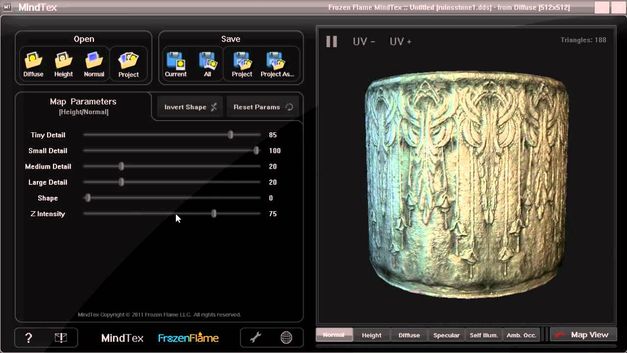 . mindtex demonstration lowcost normal map generator  youtube