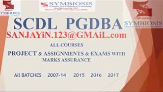 scdl pgdba assignments download