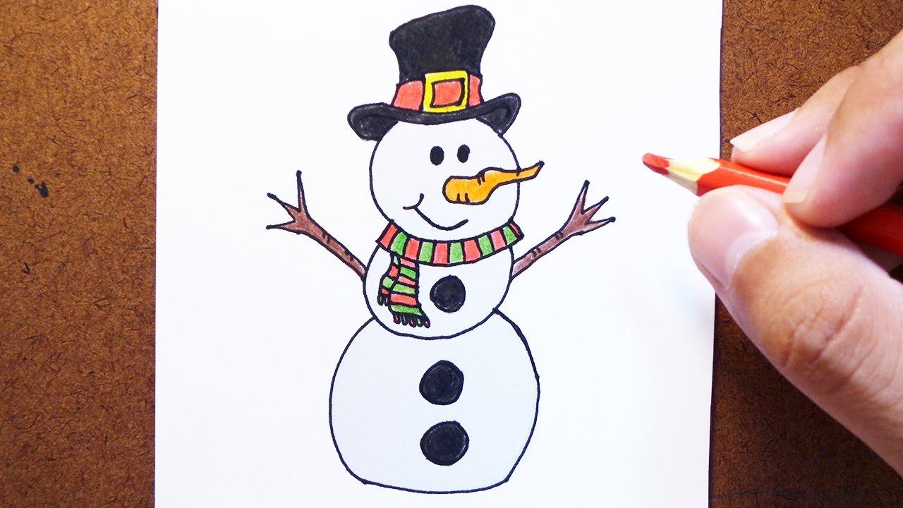 Como Desenhar E Pintar Boneco De Neve Natal Youtube