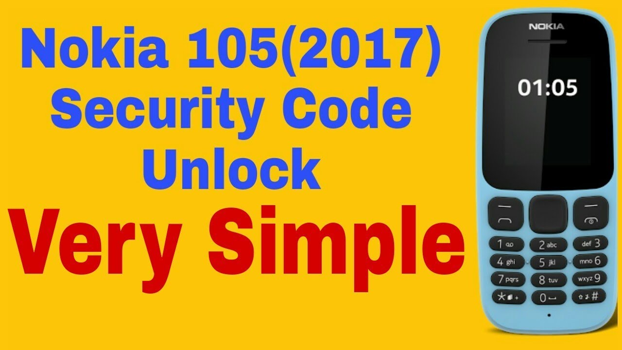 Nokia 105 Security Code Unlock (2017)   Nokia TA 1010 Security Code Unlock  By Miracle Box