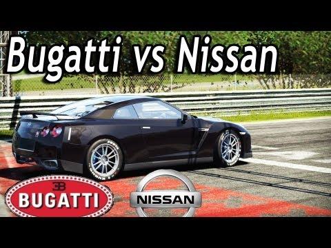 NFS Shift 2 - Bugatti vs Nissan GT-R [Tuned] Drag