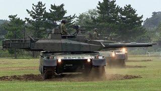 超信地旋回性能比較!!! 10式90式74式戦車の旋回速度比較 武器学校・土浦駐屯地開設63周年記念行事