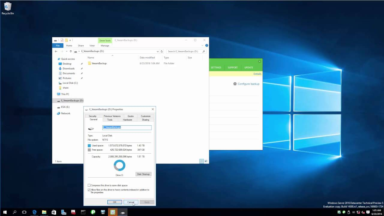 Veeam Endpoint Backup FREE works well with Windows Server 2016 (beta)  already, here's how