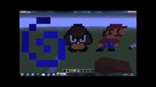 minecraft how to make a goomba statue