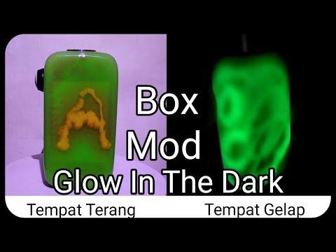 Box Mod Model Hexohm V3.0 Bahan ( Resin Glow In The Dark )