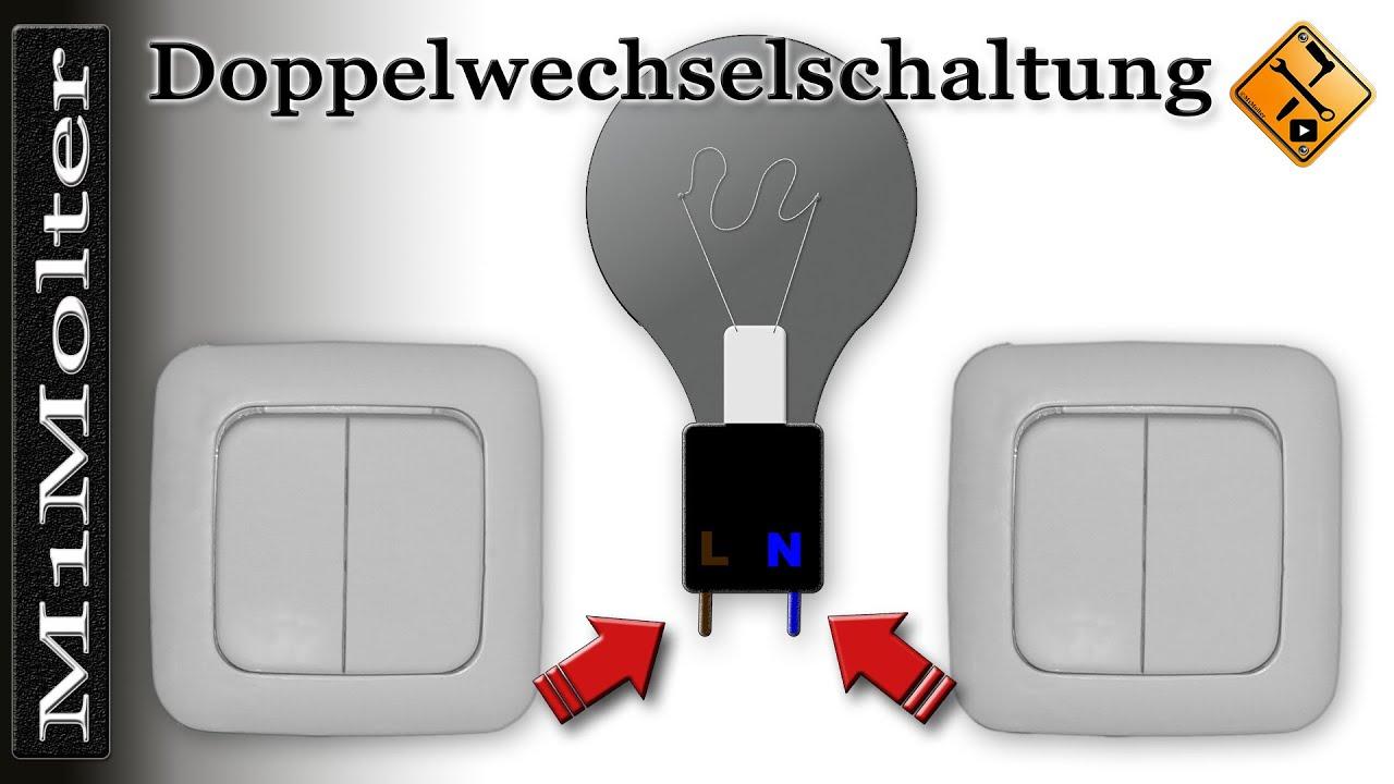 Doppelwechselschaltung - Anleitung anklemmen wie? (Serienschaltung ...
