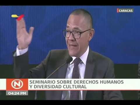 Ernesto Villegas en Seminario sobre derechos humanos y diversidad cultural del MNOAL