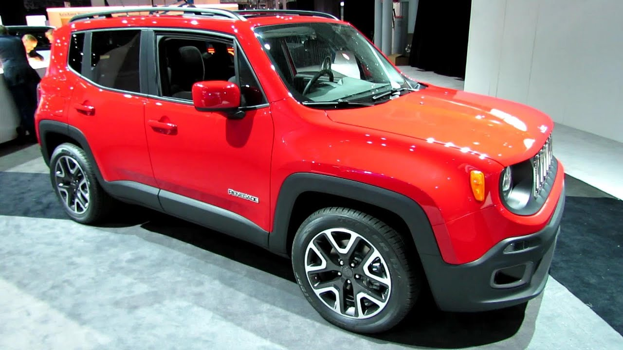 Jeep Renegade Interior >> 2015 Jeep Renegade Latitude - Exterior and Interior Walkaround - 2014 New York Auto Show - YouTube