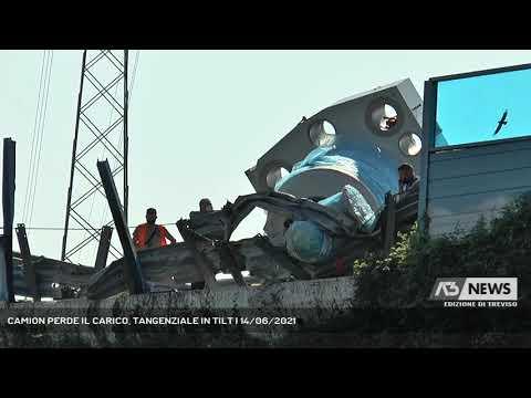 CAMION PERDE IL CARICO, TANGENZIALE IN TILT | 14/06/2021