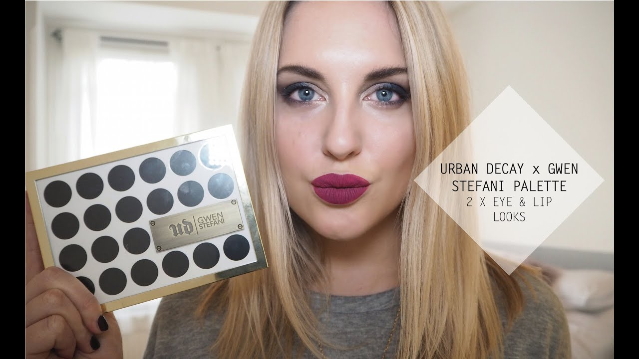 Urban Decay X Gwen Stefani Palette Quick Tutorial Day To Night Eye Amp Lip Looks Style Lobster