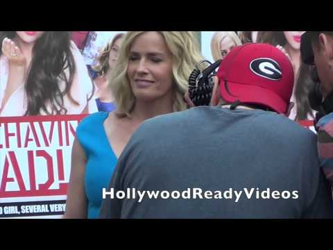 Elisabeth Shue shows love to fans at the Behaving Badly premiere in Hollywood
