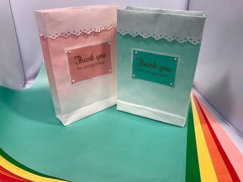 Glassine Gift Bags - Ombre Effect - New Paper