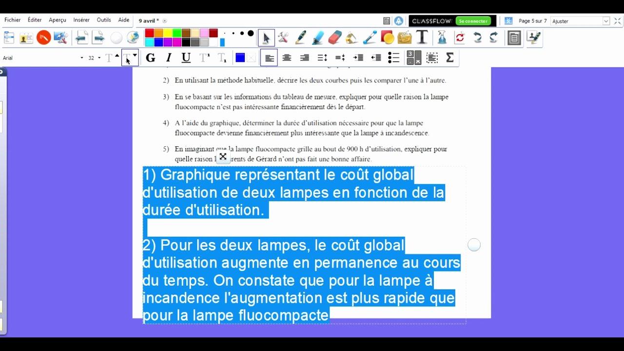 Correction exercice comparaison des lampes - YouTube