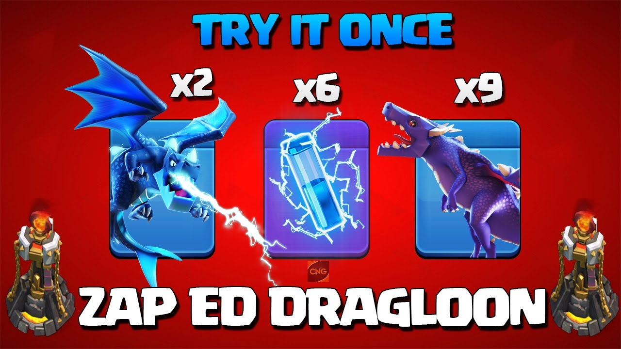 Easiest TH11 Strategy Ever! Th11 Zap Dragons   Th11 Zap DragLoon Attack Strategy in Clash of Clans