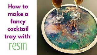 Fancy Cocktail Tray DIY with resin