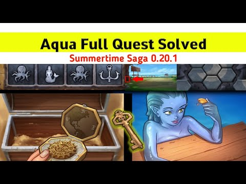 Aqua Full Walkthrough Summertime Saga 0.20.1    Find Golden Compass and treasure box