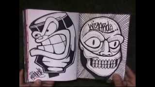BLACKBOOK 2 from Cholowiz13 graffiti characters