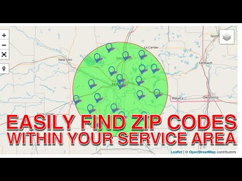 How To EASILY Find The Zip Codes Within Your Service Area