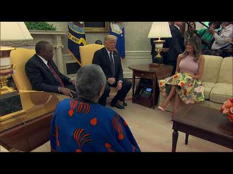 Trump welcomes Kenya's president to the White House
