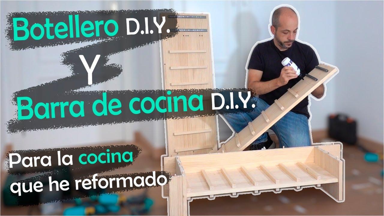 Botellero DIY y barra de cocina DIY | Español | 4K