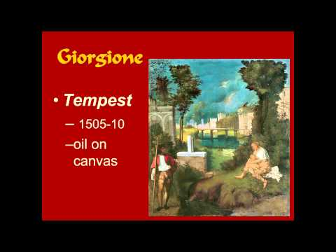 ARTH 2020/4037 Venice 1: Giorgione