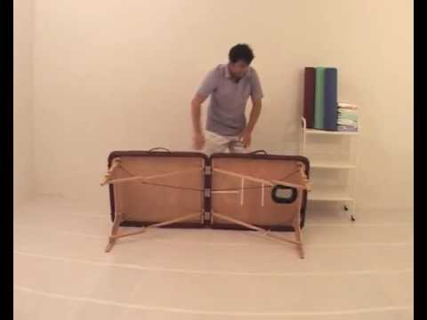 Table de massage pliable en bois medigam youtube - Table massage pliable ...