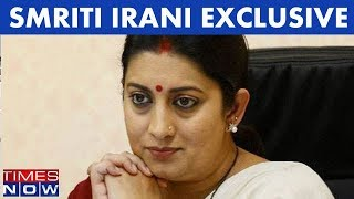Smriti Irani In An Exclusive Interview With Times NOW