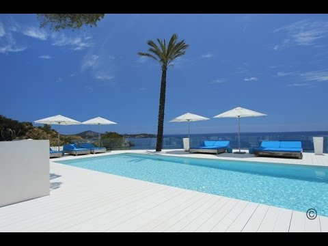 Luxury seafront Villa with private access to the sea in Es Cubells for rent - Luxury Villas Ibiza